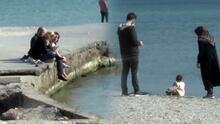 Kısıtlamanın ardından sahile akın ettiler!