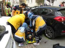 Ümraniye'de korkunç kaza! Alışverişten dönen kadın aracından altında kaldı