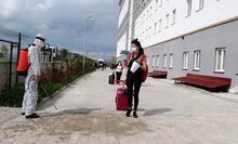 Van'da karantina süresi dolan 189 kişi evlerine uğurlandı