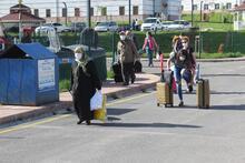 Sivas'ta, karantinadaki 69 Türk vatandaşı evlerine uğurlandı
