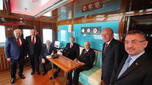 Cumhurbaşkanı Erdoğan ve MHP Genel Başkanı Bahçeli, Demokrasi ve Özgürlükler Adası'nı gezdi