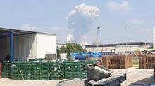 Son dakika: Sakarya'da havai fişek fabrikasında şiddetli patlama! Bölgeden ilk görüntüler