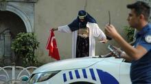 Dolmabahçe'de şüpheli kadın alarmı