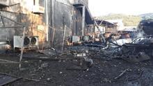 Salyangoz fabrikasında buhar kazanı patladı
