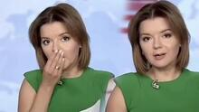 Ukraynalı spiker canlı yayındayken dişi yerinden çıktı!