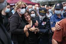 İstanbul Emniyet Müdürlüğü'nde şehit polis için tören düzenlendi