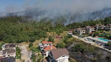 Bursa'da çıkan yangın villalara sıçradı
