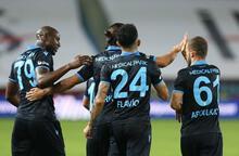 Trabzonspor-Yeni Malatyaspor maçından görüntüler