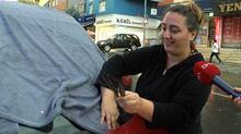 Ataşehir'de vatandaşların dolu önlemi