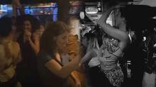 Beşiktaş'ta akılalmaz görüntü! Dansözlü korona eğlencesi