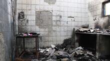 Patlamanın yaşandığı fabrikadan geriye enkaz kaldı