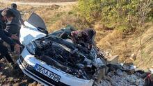 Adıyaman'da 1 ölü, 4 yaralının olduğu kazadan görüntüler