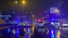 Ataşehir'deki kazadan feci görüntüler!