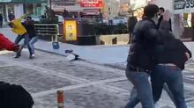 Bartın'da iki grup arasında kavga kamerada