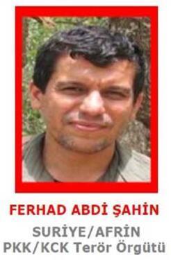 Adalet Bakanlığı, terörist Ferhat Abdi Şahin için harekete geçti