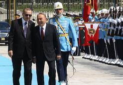 Kazakistan Cumhurbaşkanı Nursultan Nazarbayev Beştepede