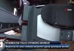 İstanbul'da yolcu otobüs devrildi