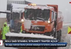 Bolu Dağı İstanbul istikameti trafiğe açıldı