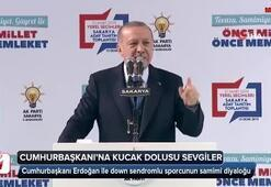 Erdoğan ile down sendromlu sporcunun samimi diyaloğu