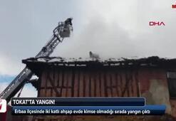 Evde kimse olmadığı sırada yangın çıktı Alt katta...
