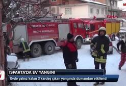 Ispartada ev yangını