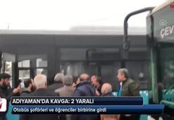 Otobüs şoförleri ve öğrenciler birbirine girdi