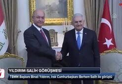 TBMM Başkanı Yıldırım, Irak Cumhurbaşkanı Salih ile görüştü
