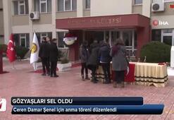 Ceren Damar Şenel için anma töreni düzenlendi