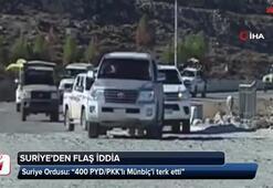 Suriye Ordusundan 400 PYD/PKK'lı terörist Münbiç'i terk etti iddiası