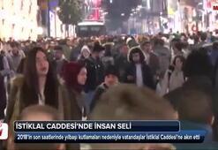 Yılbaşı öncesi insanlar İstiklal Caddesine akın etti