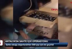 Antalyada sahte içki operasyonu