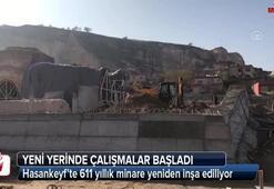 Hasankeyfte 611 yıllık minare yeniden inşa ediliyor