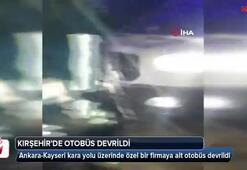 Kırşehirde otobüs devrildi: 3 kişi öldü, 35 kişi yaralandı