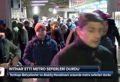 Ataköy-Bahçelievler Metro İstasyonları arasında intihar iddiası