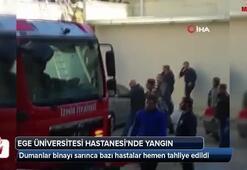 Ege Üniversitesi Hastanesinde yangın
