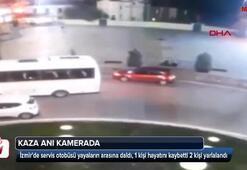 Servis otobüsü yayaların arasına daldı