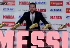 Lionel Messi Altın Ayakkabı ödülünü aldı