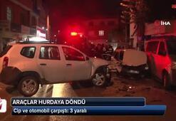Adana'da cip ve otomobil çarpıştı: 3 yaralı