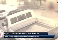 Bıçaklı saldırı kameralara yansıdı