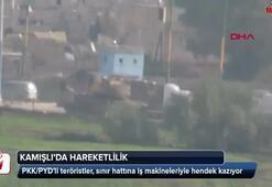 Terör örgütü PKK/YPG Kamışlıda hendek kazıyor