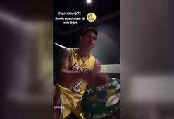 Thiago Silvadan Lakers formalı kutlama