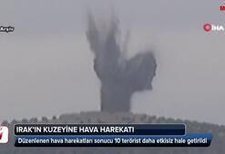 Türk savaş uçakları Kuzey Irakı vurdu
