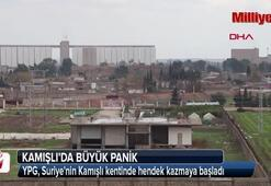 YPG, Suriyenin Kamışlı kentinde hendek kazmaya başladı