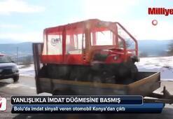 Bolu'da imdat sinyali veren otomobil Konya'dan çıktı