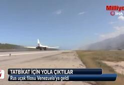 Rus uçak filosu Venezuelaya geldi