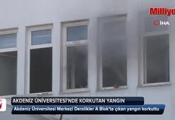 Üniversite'de yangın paniği