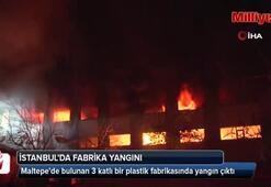 Maltepedeki fabrika yangını kontrol altına alındı