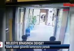 Silahlı saldırı anı güvenlik kamerasına yansıdı