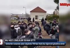 Fransada 700den fazla lise öğrenci gözaltına alındı