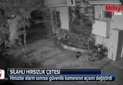Lüks siteye giren silahlı hırsızlık çetesi kamerada